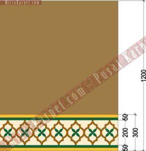 Ukuran Desain Karpet Masjid Al–Fattah Tasikmalaya Jawa Barat