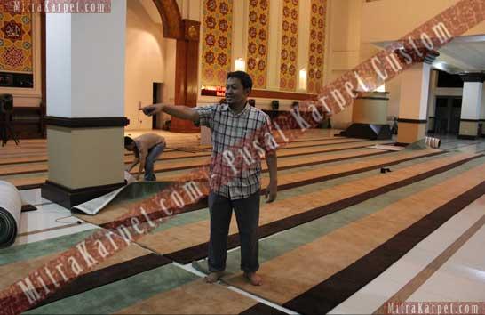 Pemasangan Karpet Masjid Berkualitas Tebal