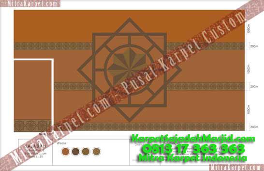 Desain Karpet Masjid Malang Jami Agung