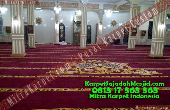 Karpet Masjid Custom Bukit Tinggi Birugo Terpasang