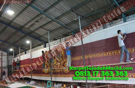 Produksi Karpet Masjid Custom Bukit Tinggi Birugo